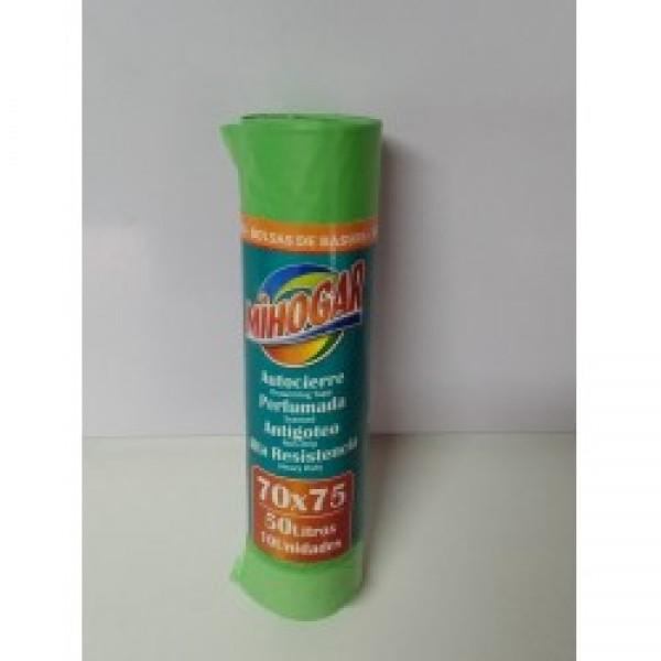 Mihogar bolsas basura perfumada 70 x 75 50l verde