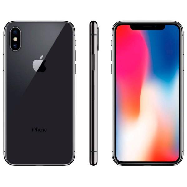 Apple iphone x 64gb gris espacial reacondicionado recommerce móvil 4g 5.8'' super retina oled hdr/6core/64gb/3gb ram/12mp+12mp/7mp
