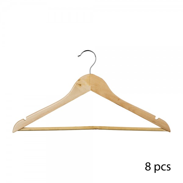 Set 8ud perchas de madera