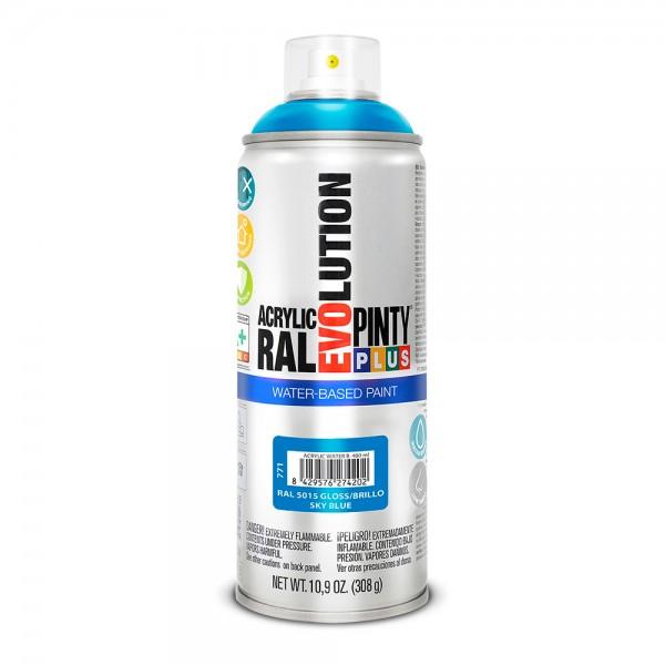 Pintura en spray pintyplus evolution water-based 520cc ral 5015 azul celeste